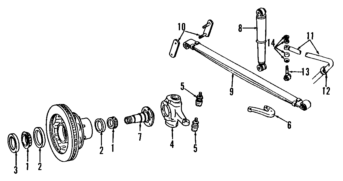 Dodge W250 Steering Knuckle. Right, Ton, SUSPENSION