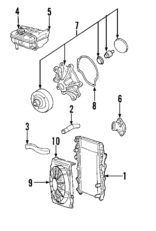 Jeep Liberty Radiator Coolant Hose (Upper, Lower). 3.7