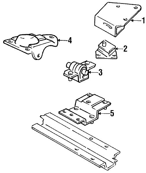 Dodge Dakota Rear bracket. Trans, Upper, CYLINDER