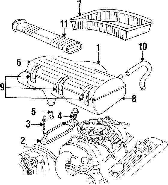Dodge Ram 1500 Air cleaner. Air filter housing. Body