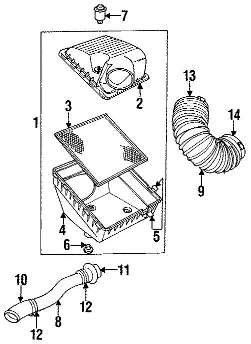 Dodge Ram 2500 Air Filter. 5.9 LITER, DIESEL. All Models