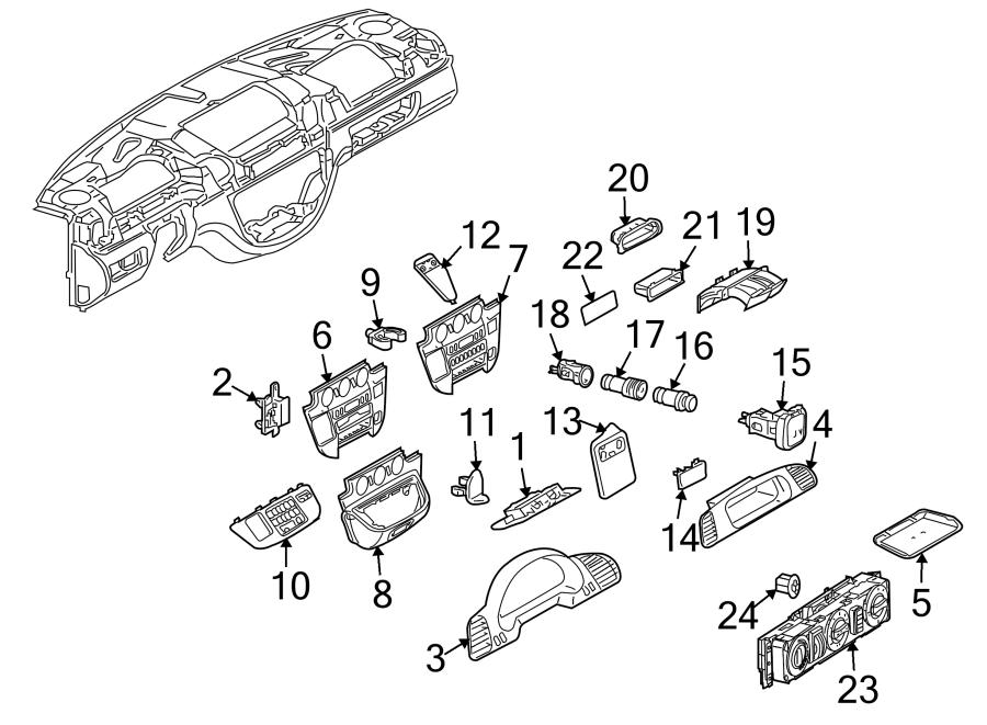 Dodge SPRINTER 3500 Tray. PANEL, INSTRUMENT, FCA