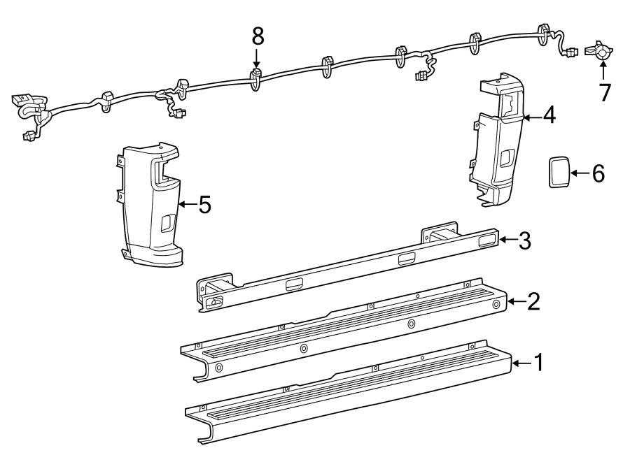 Ram ProMaster 1500 Parking Aid System Wiring Harness