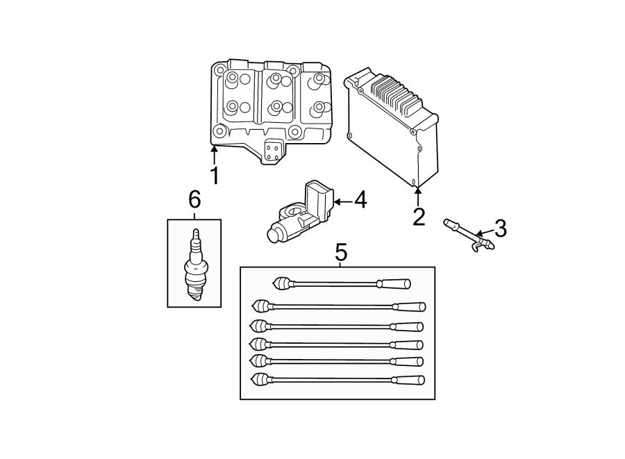 Dodge Grand Caravan Engine Control Module. 3.3 & 3.8 LITER