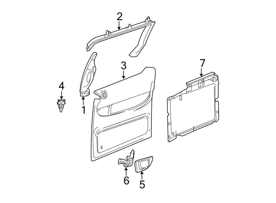 Dodge Caravan Sliding Door Trim Panel. W/o leather