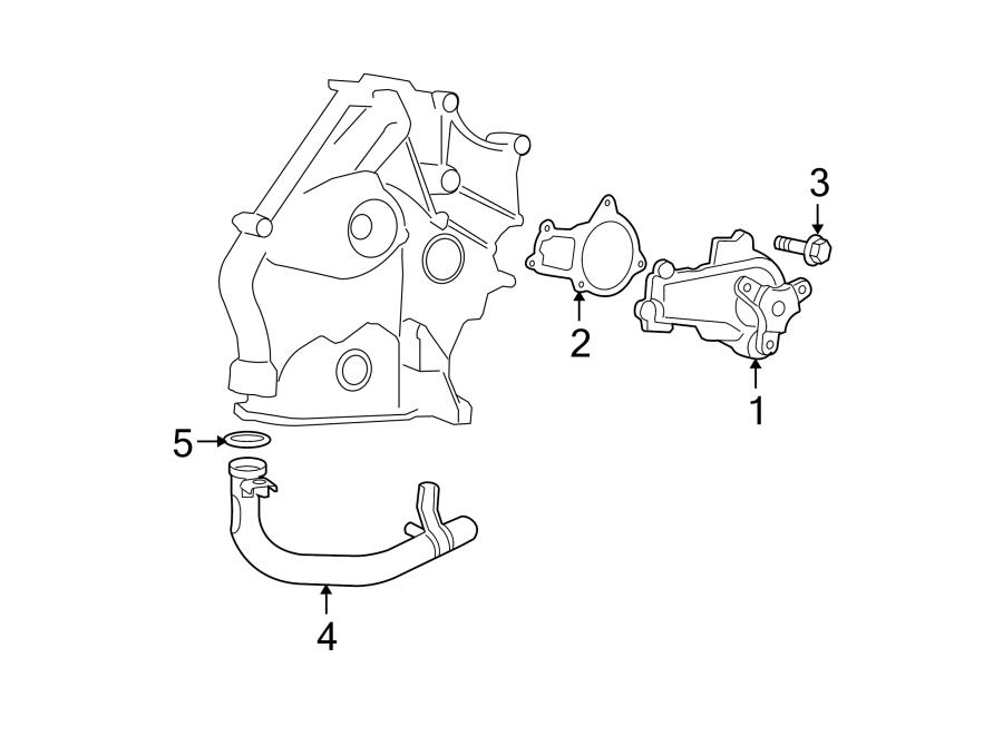 Dodge Grand Caravan Engine Coolant Pipe. 3.3 & 3.8 LITER