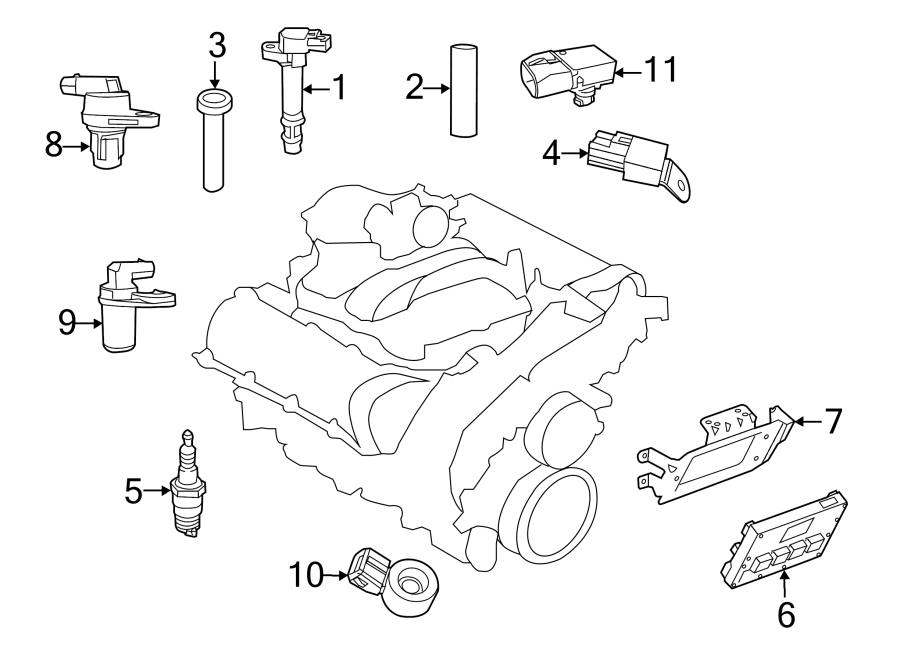 Dodge Grand Caravan Engine Control Module. 3.6 LITER