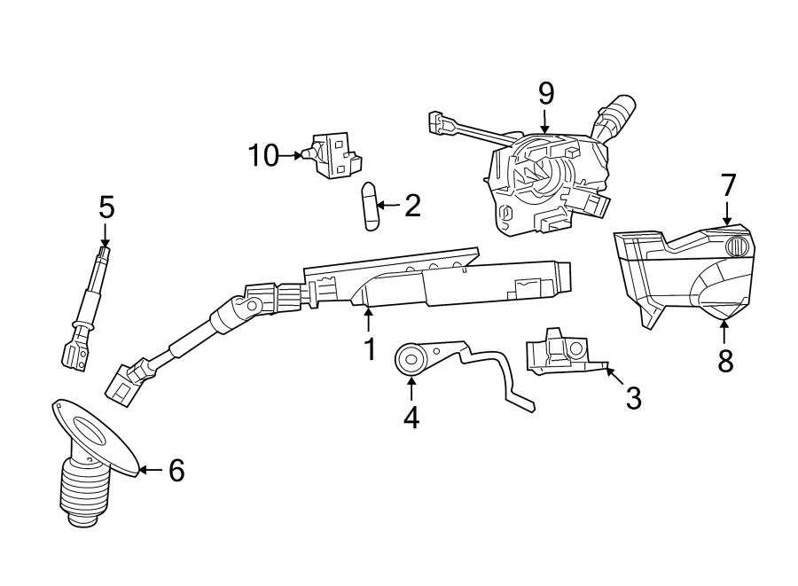 Chrysler Town & Country Steering Shaft (Lower). All Models