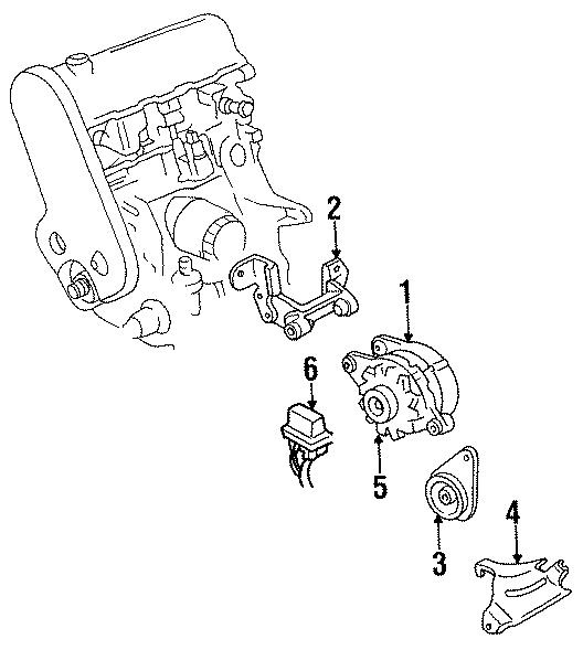 Dodge Caravan Alternator bracket. Alternator mount bracket