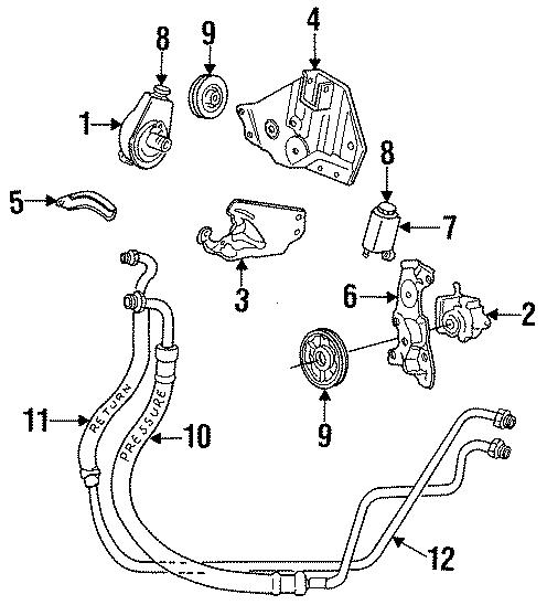 Dodge Grand Caravan Alternator lower bracket. Alternator