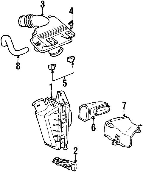 Chrysler Grand Voyager Crankcase vent. Pcv valve hose. 3.3
