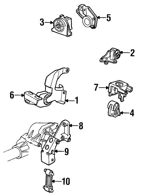 Dodge Grand Caravan Engine Torque Strut. 3.8 LITER