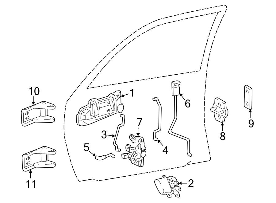 Dodge Dakota Exterior Door Handle. Right, CAB, Entry