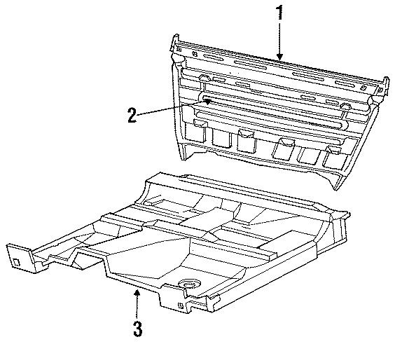 Dodge Dakota Floor pan. EXTENDED CAB, 2WD, manual trans