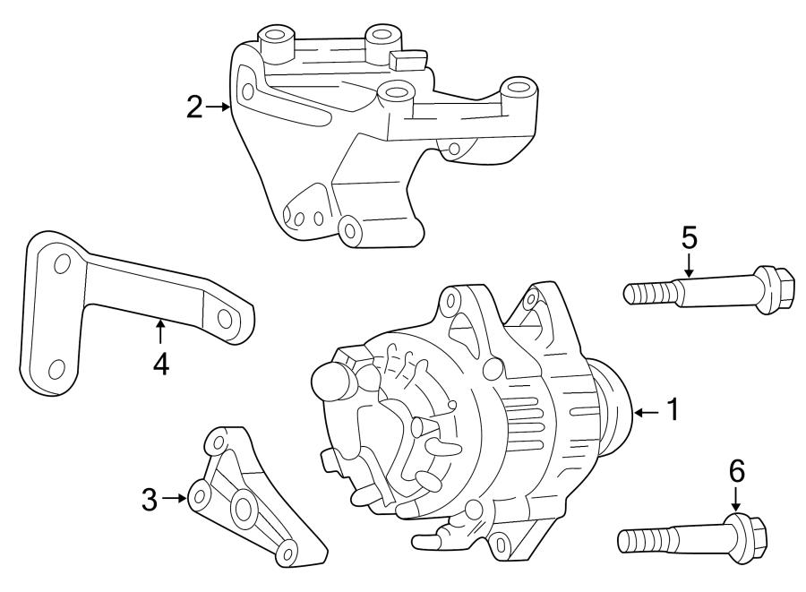 Dodge Dakota Bolt. Mount. Bracket. Alternator. 1997-02