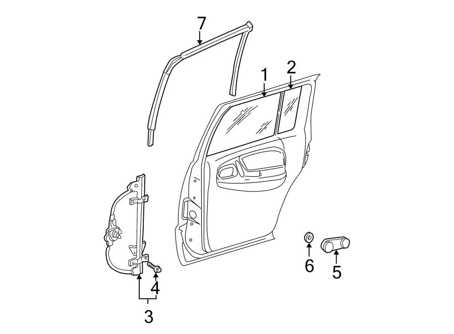 Dodge Viper Screw. Regulator. Bolt. 1993-95. CONVERTIBLE