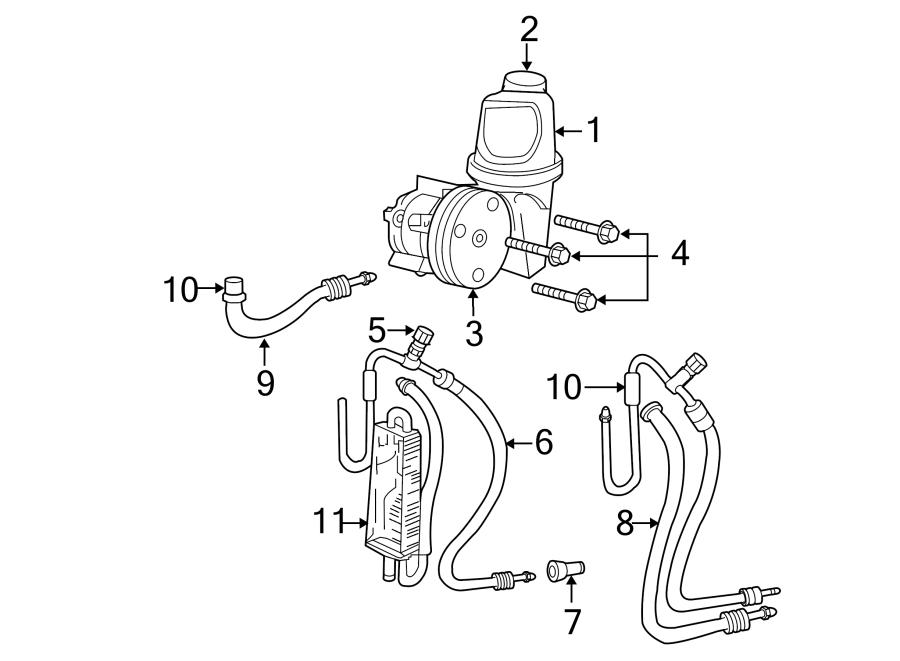 Dodge Dakota Power Steering Pump. WHEEL, Liter, DRIVE