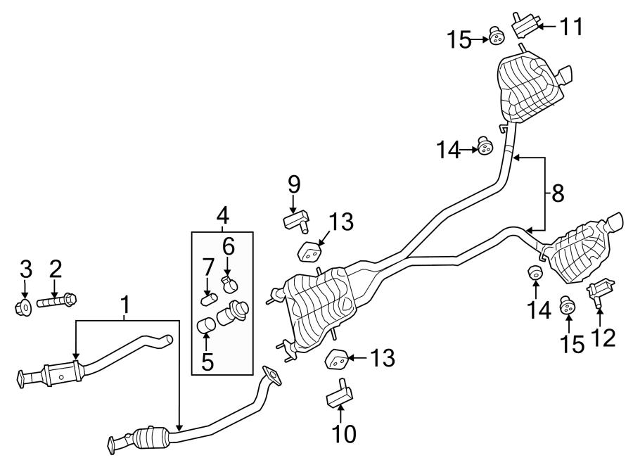 Dodge Durango Catalytic Converter. LITER, California