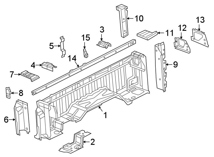 Ram 2500 Truck Bed Panel Reinforcement Bracket (Rear
