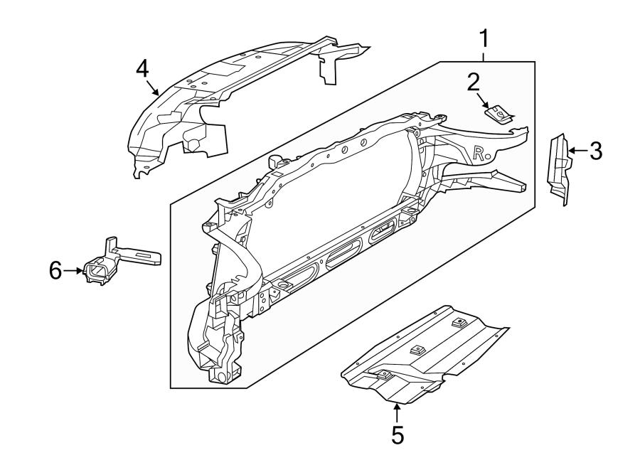 Dodge Ram 1500 Radiator Support Splash Shield. W/o off