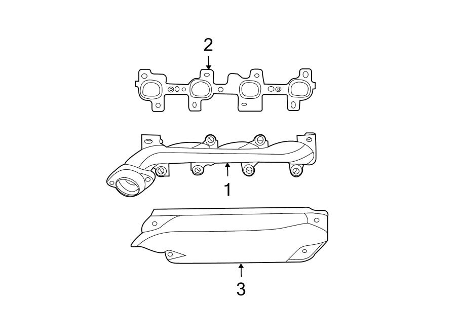 Dodge Ram 1500 Exhaust Manifold Gasket. Exhaust manifold