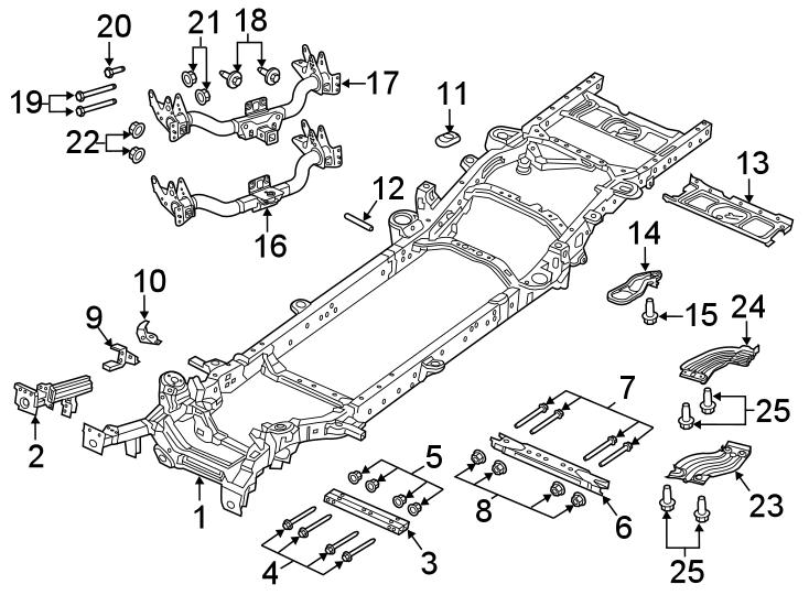 Ram 1500 Frame Rail. 153.5 WHEELBASE, FRAME & CROSSMEMBERS
