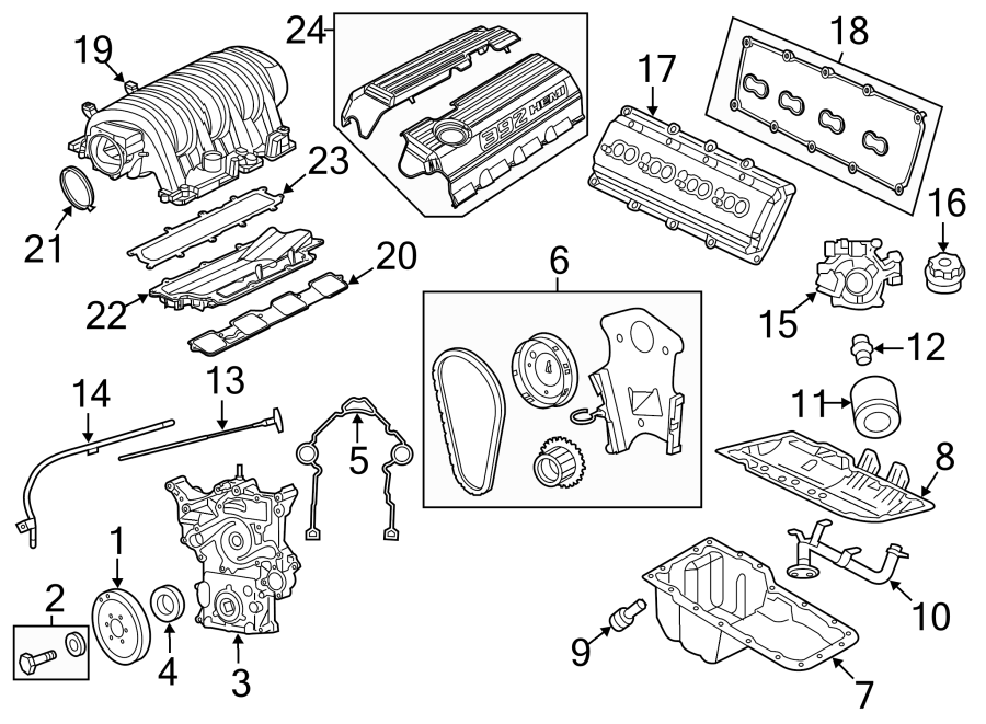 Dodge Challenger Engine Oil Pump. BEARINGS, LITER