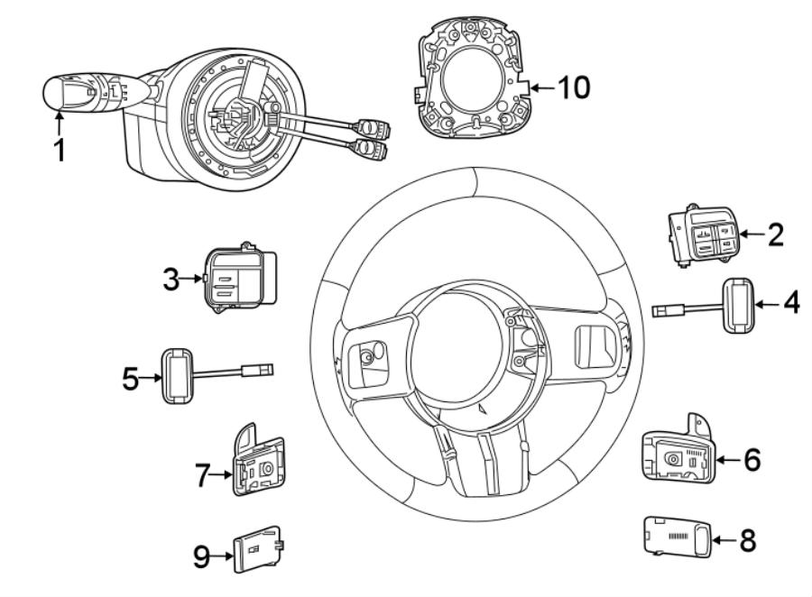 Dodge Challenger Switch. Module. Column. Steering