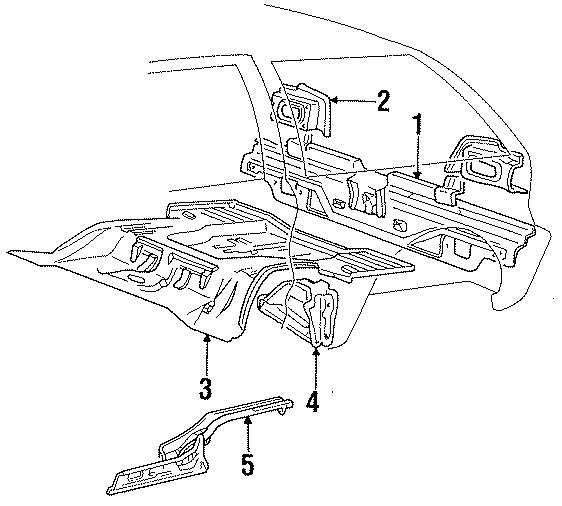 Dodge Colt Rear Body Panel. 3 DOOR HATCHBACK,. FLOOR