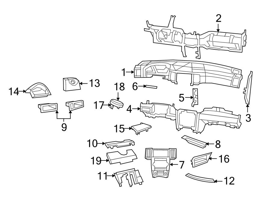 Jeep Grand Cherokee Instrument Panel Bezel. 2008-10