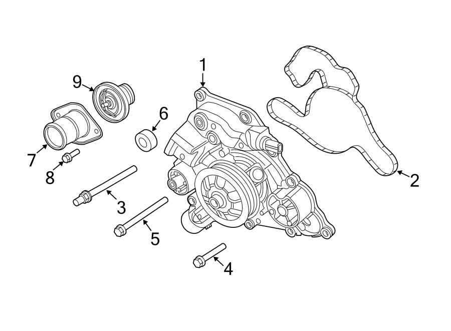 Jeep Grand Cherokee Engine Water Pump Drain Plug. Pipe