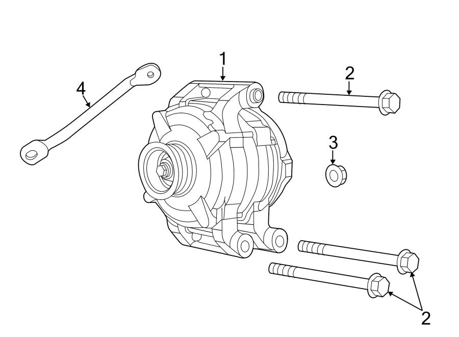 Jeep Grand Cherokee Bolt. Alternator. Pump. Mount
