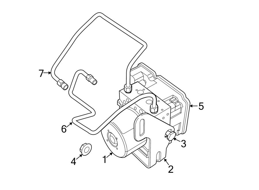 Jeep Grand Cherokee Abs modulator bracket. Components