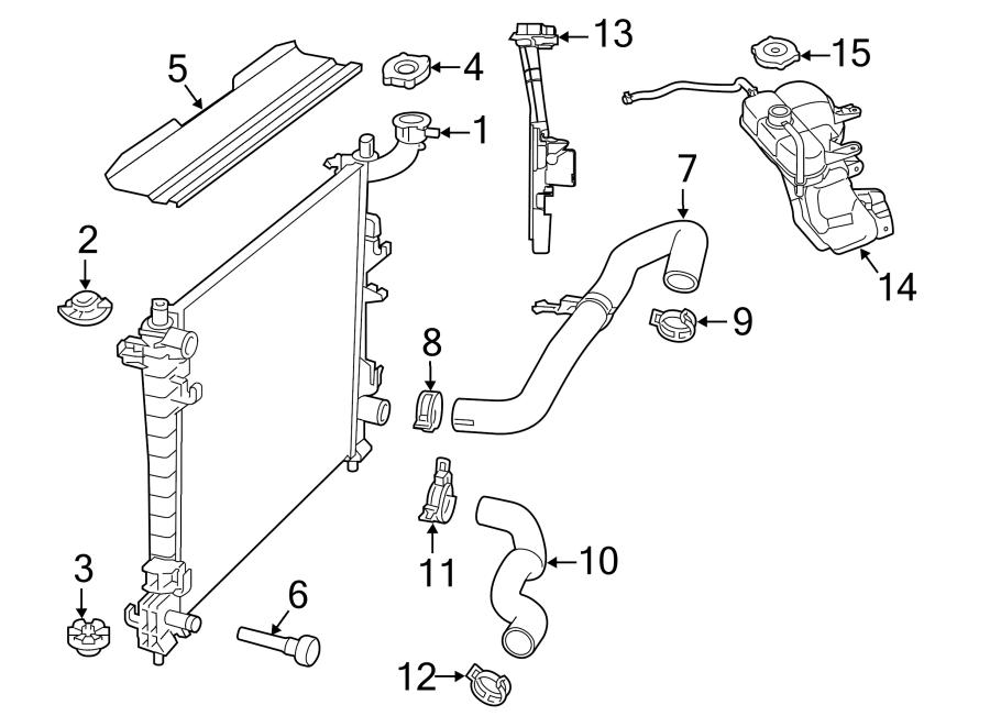 Jeep Grand Cherokee Radiator Support Baffle. 3.0 LITER