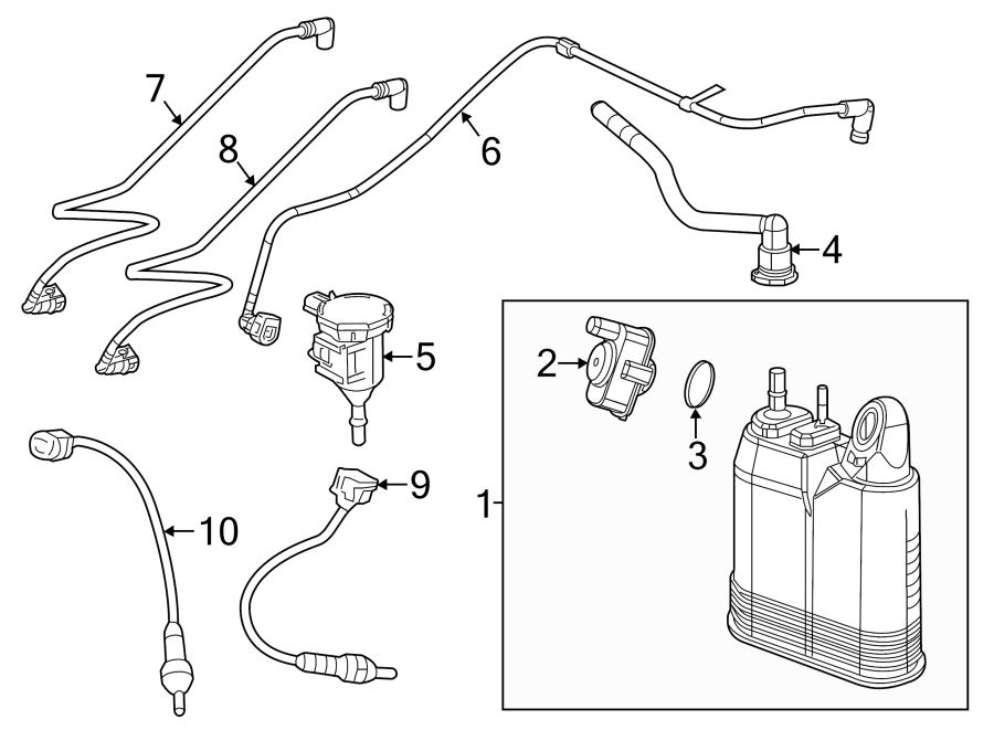 Jeep Grand Cherokee Purge. Vacuum harness. Vacuum hose. 3