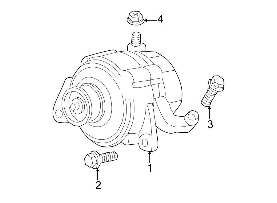 Jeep Grand Cherokee Bolt. Alternator. Mount. (Front, Upper
