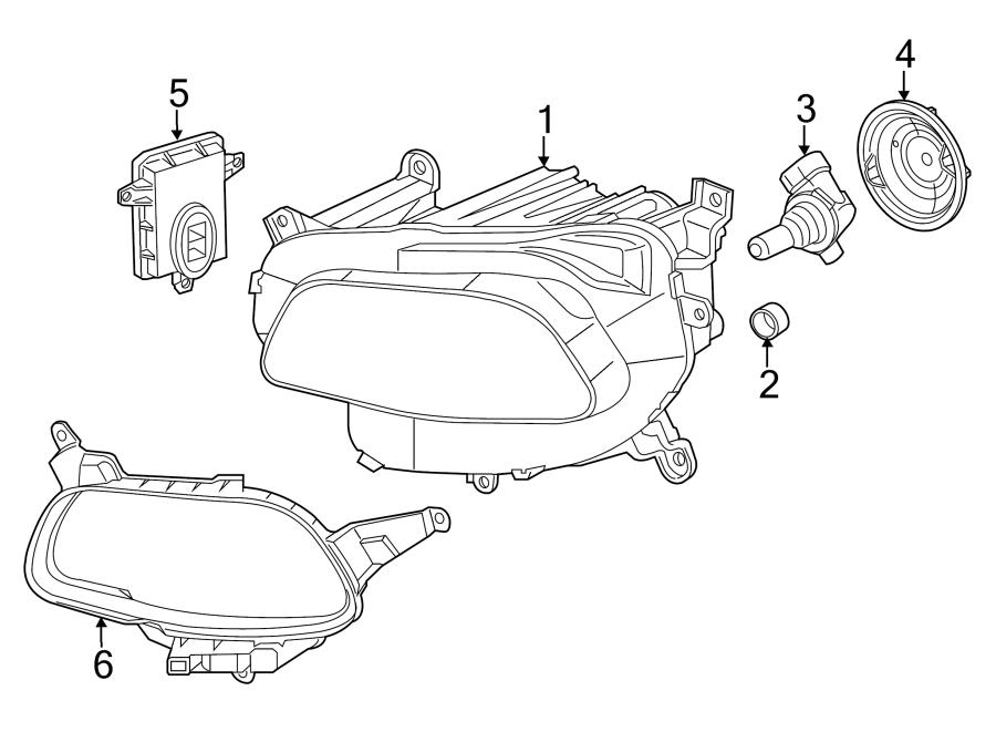 Jeep Cherokee Headlight. Chrome, HID, HEADLAMP
