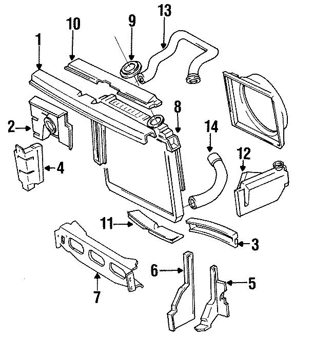 Jeep Wagoneer Upper hose. 4 CYLINDER GAS, w/AC. 4 CYLINDER
