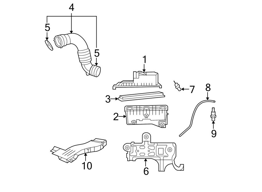 Jeep Patriot Pcv valve hose. 2.4 liter, 2007-10. Air