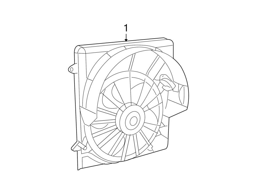 Jeep Liberty Engine Cooling Fan Assembly. RADIATOR