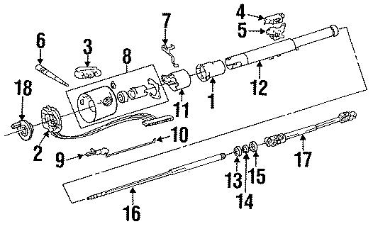 Jeep Wrangler Shaft. (Upper). W/O TILT WHEEL. YJ Series