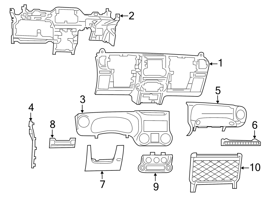 Jeep Wrangler JK Dashboard Panel. Instrument, Make