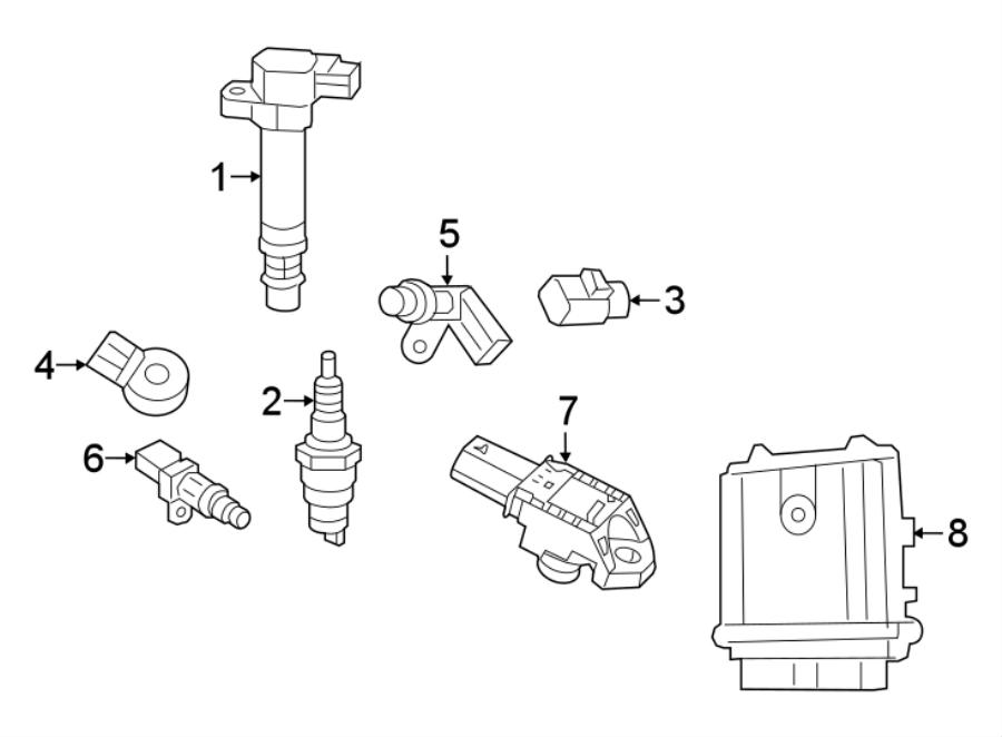 Jeep Wrangler Engine Camshaft Position Sensor. CAMSHAFT