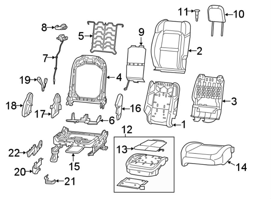 Jeep Wrangler Headrest Guide. CODE, CLOTH, Non