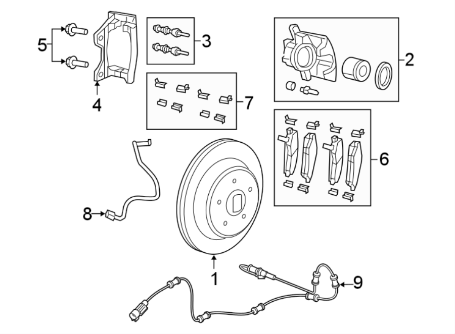 Jeep Wrangler Disc Brake Pad Set. Pads, SUSPENSION