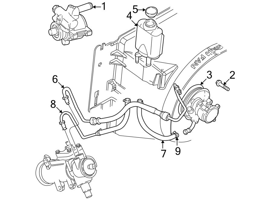 Jeep Wrangler Power Steering Pump Pulley. Power Steering