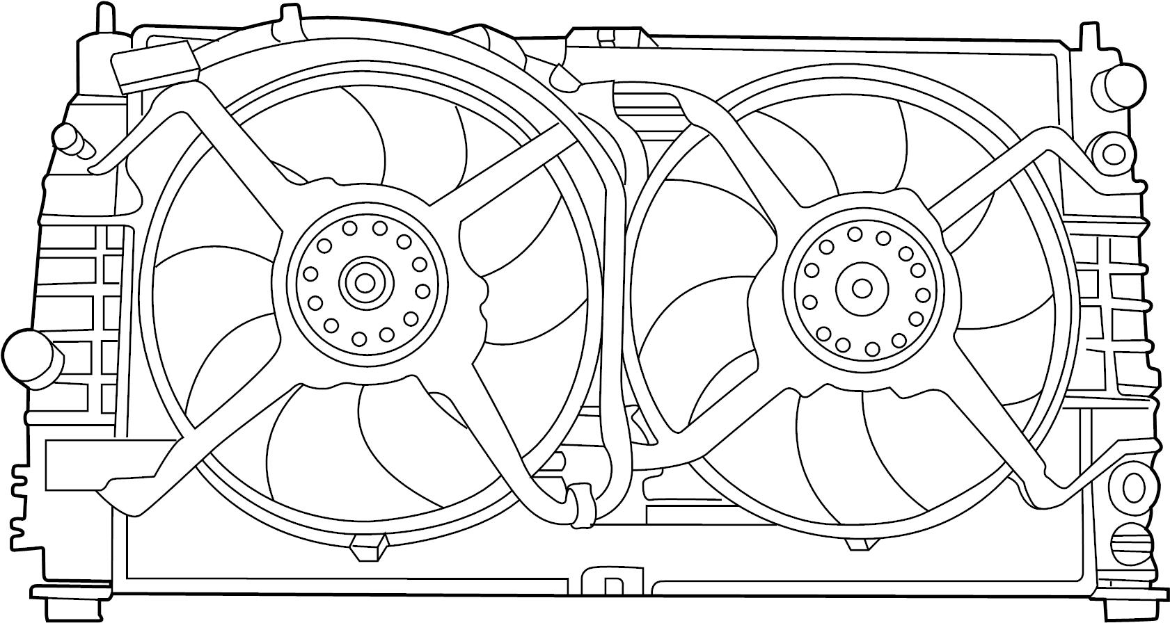 Dodge Intrepid Cooling Module Fan Module