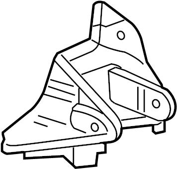 Dodge Stratus Bracket. Mount. Support. Engine. (front