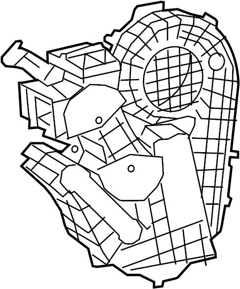 Chrysler Pacifica Hvac blower motor housing. Manual temp