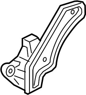 Dodge Challenger Bracket. Shaft. Differential. W/awd